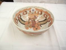 A vintage Chinese bowl, diameter 26cm,
