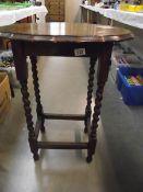 A 1930's oak side table.