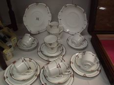 An Art deco porcelain tea set.