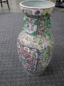 A good Chinese painted vase, 62 cm tall.