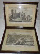 A pair of early 20th century framed and glazed engravings of Durham.
