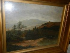 A good oil on canvas by by A J Redfern (would probably benefit from cleaning).