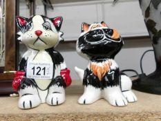 2 Lorna Bailey cats.