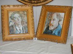 Two old furnishing portrait prints.