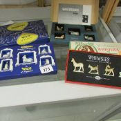 3 boxed sets of Wade Whimsies, Polar set, Set 1 wild animals. and horses.