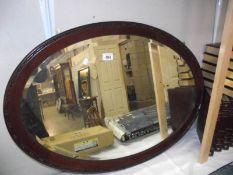An Edwardian bevel edge mirror