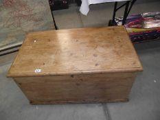 A Victorian pine blanket box.