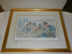 """""""Between Rehearsals"""" A framed and glazed signed limited edition print, 414/600 by Gordon King,"""