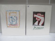 Pablo Picasso (1881-1973) Two lithographic abstract portrait prints one plate signed published in