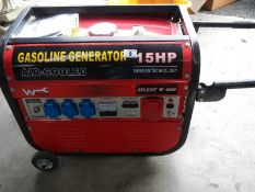 A Gasdoline 15 hp generator.