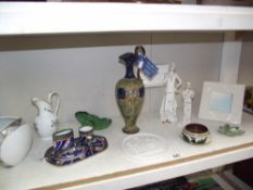 19c Doulton stoneware ewer/jug a/f and other items including Carlton ware, Kaiser etc.