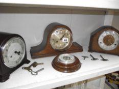 A 1930's Enfield bakelite mantle clock,