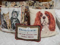A quantity of good cushions.