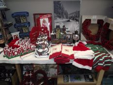 A good selection of Christmas decorations etc