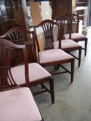 5 good mahogany dining chairs.
