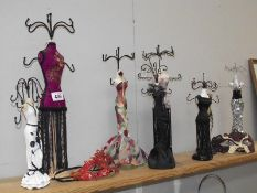 A good selection of figural jewellery stands