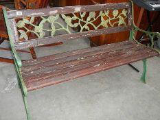 A garden bench,