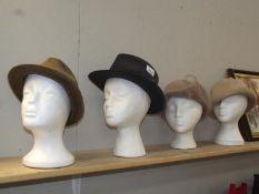 4 vintage hats (heads not included)