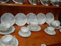 A Victorian tea set of approximately 32 pieces.