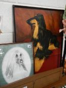 2 Afghan hound pictures.