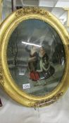 A 19th century oil on glass,