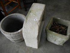 3 good old plant pots.