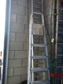 An aluminium ladder.