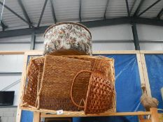 A quantity of wicker items.