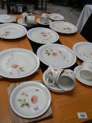 A Dusty Meadow pattern stoneware tea and dinner set.