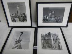 4 framed and glazed prints by Aki Davis.