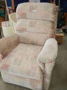 An electric recliner chair.