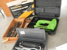 A new electric stapler, saw, drills etc.