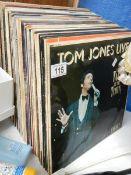 A quantity of LP records etc.