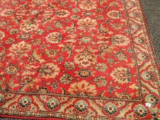 A good old carpet in good condition but needs cleaning, 275 x 265 cm.