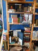 4 shelves of books.