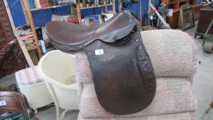 An old saddle.