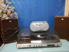 A Sony record player.