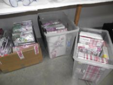 3 boxes of duvet covers, sheets and pillowcases,