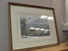 A signed limited edition print Sheep at Pristily Fawr No 291 of 850 by Colin Morse