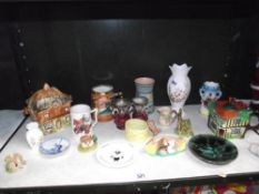 A quantity of collectable pottery items including Sylvac, Delfts etc.