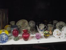 A mixed lot of china and glass