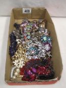 A quantity of various design costume jewellery necklaces