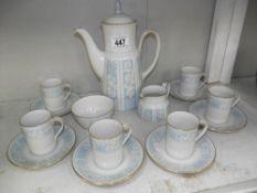 A Royal Doulton Hampton Court 15 piece coffee set