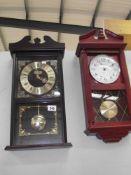 2 modern Quartz wall clocks