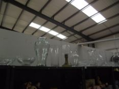 A quantity of large glass vases etc.
