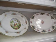 2 large royal Albert bone china meat plates,