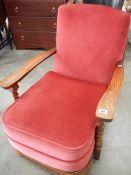 An old oak arm chair.