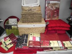 A selection of wicker baskets,