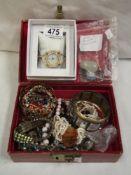 A jewellery box and jewellery
