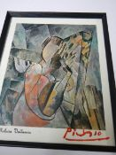 A Framed and glazed print signed Picasso?